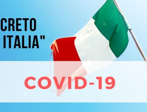 """Covid-19  Gestione Emergenza, Il Decreto """"Cura Italia"""""""